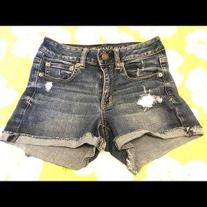 American Eagle Size 4 Super Stretch Jean Shorts